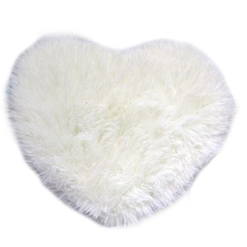Mode Moderne Décoratif Shaggy Coeur Doux En Fausse Fourrure Tapis En Peau  De Mouton Chambre Kid