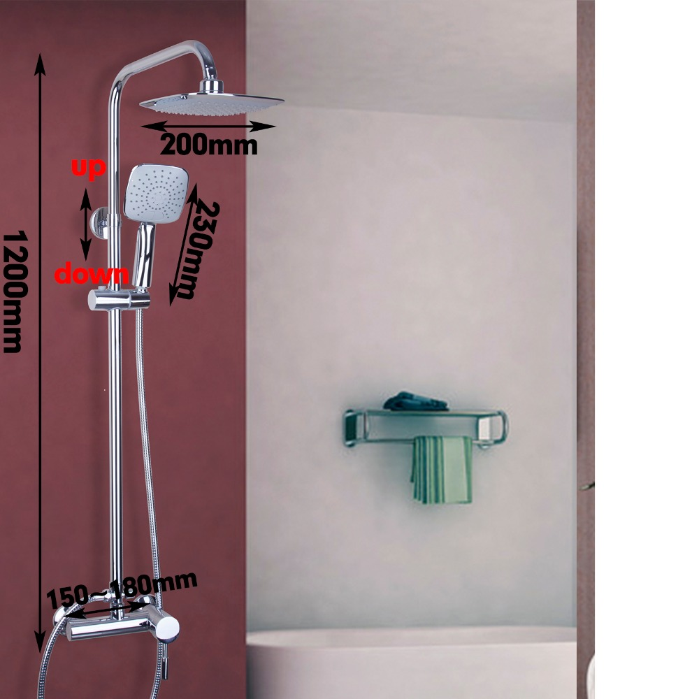 2016 Fashion Style Bathroom Shower Set Faucets Polish Chrome Wall Mounted With Slide Bar Wall Mounted Shower Set Faucets Tap sognare new wall mounted bathroom bath shower faucet with handheld shower head chrome finish shower faucet set mixer tap d5205