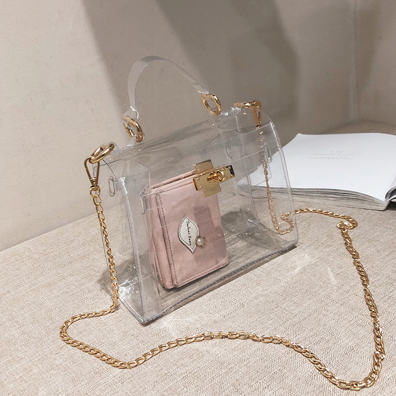 PVC Clear Jelly Bag For Women 2019 Luxury Handbags Women Bags Designer Transparent Purses And Handbag Crossbody Bag Sac A Main
