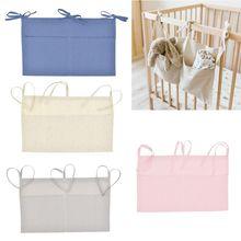 Baby Crib Organizer Bed Hanging Storage Bag For Essentials Multi-Purpose Diaper Toys Tissue