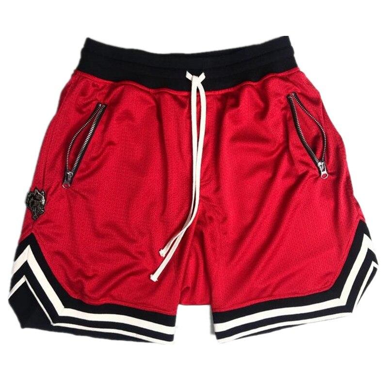 2018 new mesh shorts men hip hop street wear fours colors fashion clothing for men big size casual shorts beach