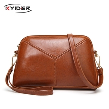 KYIDER Women Messenger Bags Famous Brand 2019 Vintage Retro Crossbody Bag Small PU Leather Handbags For Splicing