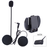 Fodsports Half Face Helmet Headsets Headphone For V4 V6 Pro Intercom Accessories With Metal Clip Micphone