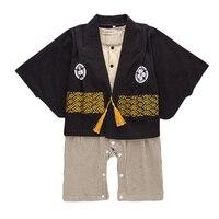 Bé Trai Gái Quần Áo Sets Dễ Thương Floral Print Kimono Yếm Rompers Bộ Dễ Thương Bé Sơ Sinh New Years Quần Áo 0-24 M CS59