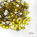 Super Shiny SS3-SS34 Citrine Glitter Non Hotfix Opal Color 3D Nail Art Decorations Flatback Rhinestones Strass Stones