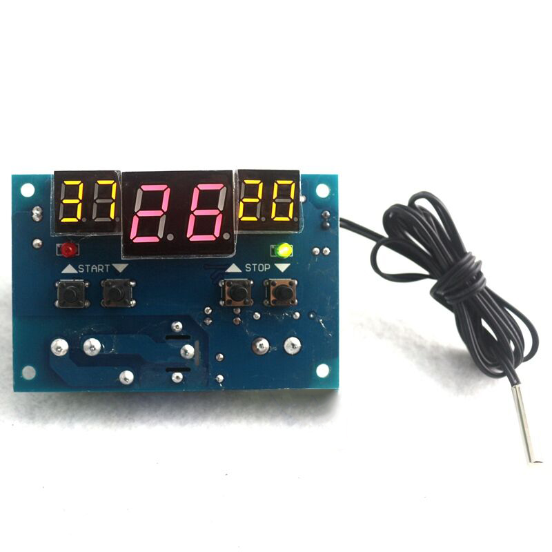 DC12V Intelligent Digital Thermostat Temperature Controller Regulator with NTC Sensor W1401 Termostato