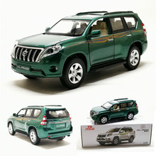 1:32 TOYOTA LAND CRUISER PRADO Alloy Metal Green Car Model Toys With Pull Back Flashing For Kids Gifts Toys(China)