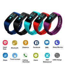 Goral Y5 Color Screen Wristband Watch Smart Electronics Bracelet Waterproof Heart Rate Activity Fitness VS for Xiaomi Miband 2