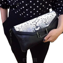 2017 Serpentine Pattern Famous Brands Shoulder Designer Evening Day Clutch Python Snake Pattern Real Cow Leather Celebrity Bags