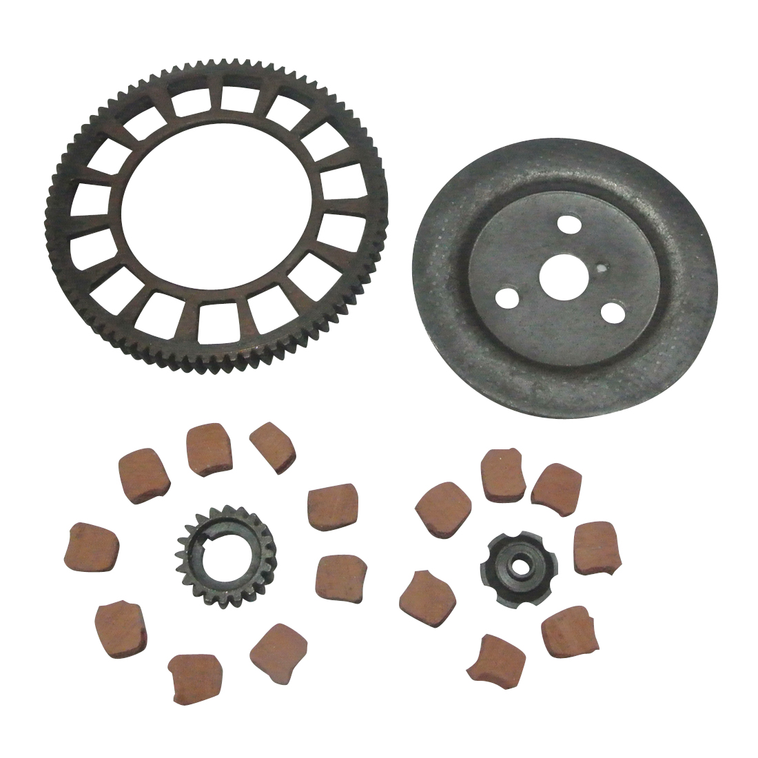 Clutch Flower Nut Big Bevel Gear + Friction Pads For 49/80CC Motorised Bicycle
