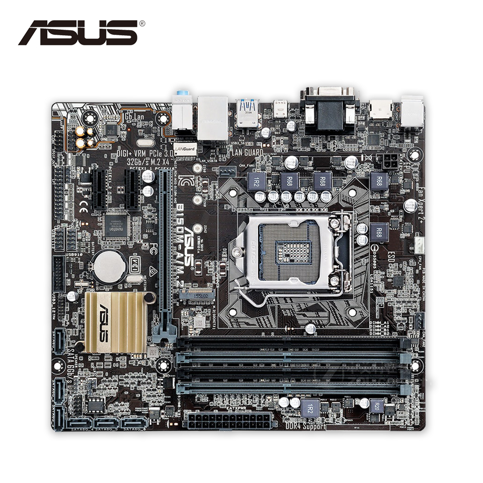 Asus B150M-A-M.2 Desktop Motherboard B150 Socket LGA 1151 i7 i5 i3 DDR4 64G SATA3 Micro-ATX все цены
