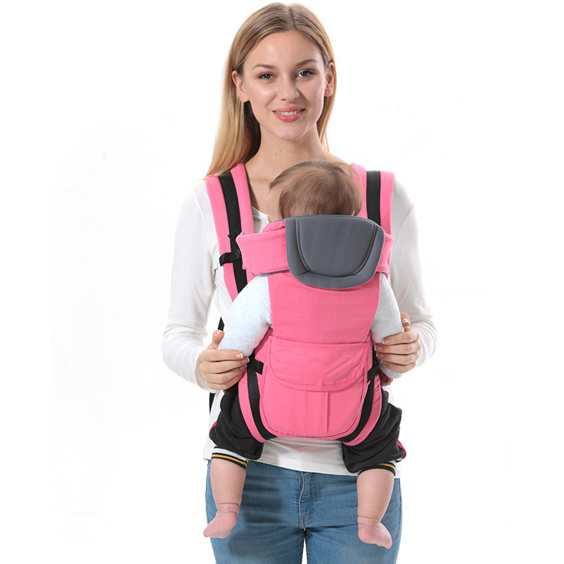 0-30 Months Baby Carrier, Ergonomic Kids Sling Backpack Pouch Wrap Front Facing Multifunctional Infant Kangaroo Bag Dropship