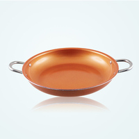 Grand Innovation Copper Pan 14 Inch Nonstick Induction Compatible Frying Pan Dishwasher Safe KGI 2375 2
