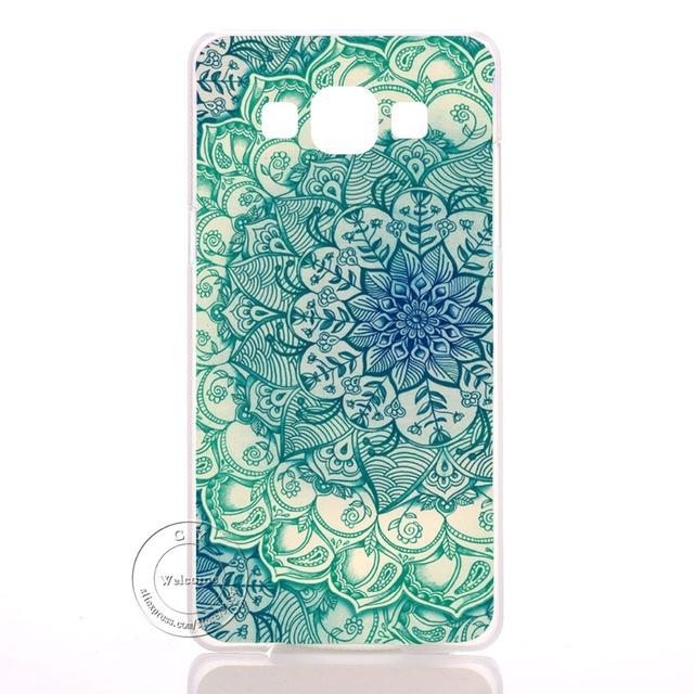 Mandala Kvet pevný plastový obal pre Samsung Galaxy A3 A5 A7 A8 J1 J5 J7 A300 A500 A700