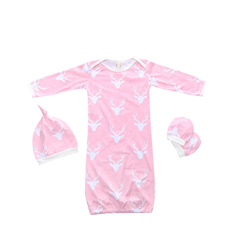 Baby Girl Sleeping Gown 3Pcs Selling Sleepers For Baby -9615