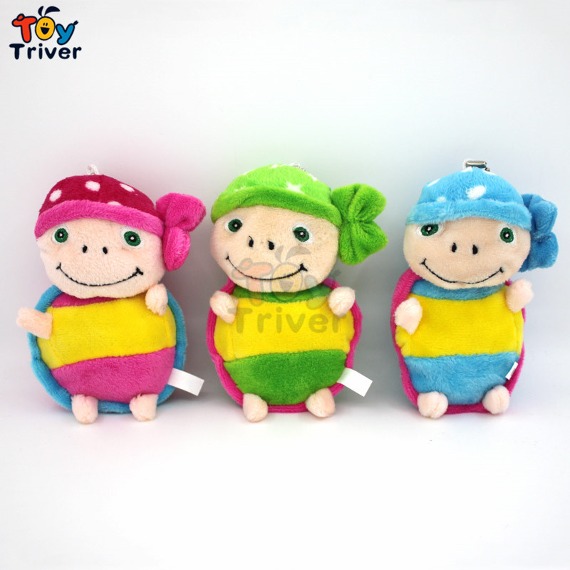 Wholesale 100pcs Cartoon Plush Turtle Tortoise Toy Doll Phone Key Chain Pendant Wedding Birthday Party Cheap Gift Present Triver 2017 new arriving 40cm big eyes turtle plush toy turtle doll turtle kids as birthday christmas gift free shipping