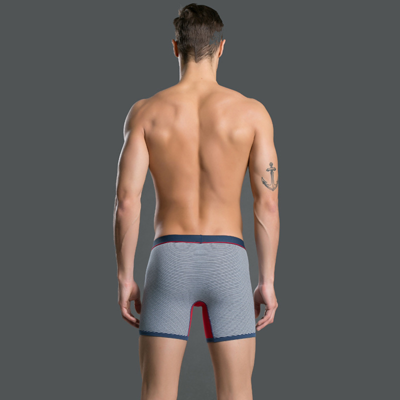 daa9583e10e Mens Low Rise Cotton Stretch stripe Boxer Underwear for Man Long Leg Boxer  6 colors BO001-in Boxers from Men s Clothing   Accessories on  Aliexpress.com ...