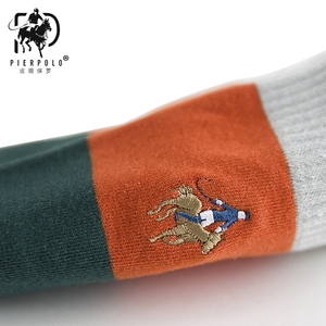 Image 4 - High Quality Fashion Multicolor 5 Pairs Brand PIER POLO Casual Cotton Socks Business Embroidery Men Socks Manufacturer Wholesale