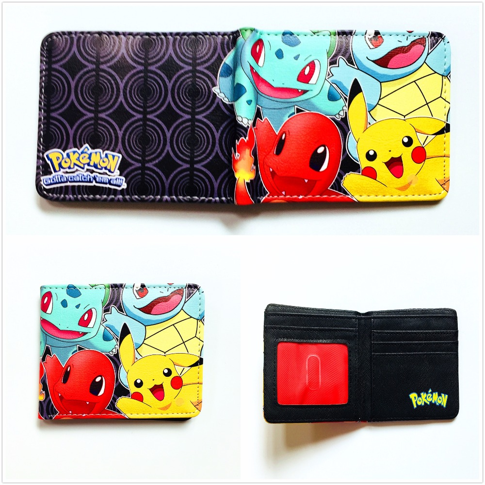Anime Pikachu Wallet Games Pokemon Purse Cartoon Pocket Monster Money Bag Men Women Short PU Leather Purse W989Q 2016 new arriving pu leather short wallet the price is right and grand theft auto new fashion anime cartoon purse cool billfold
