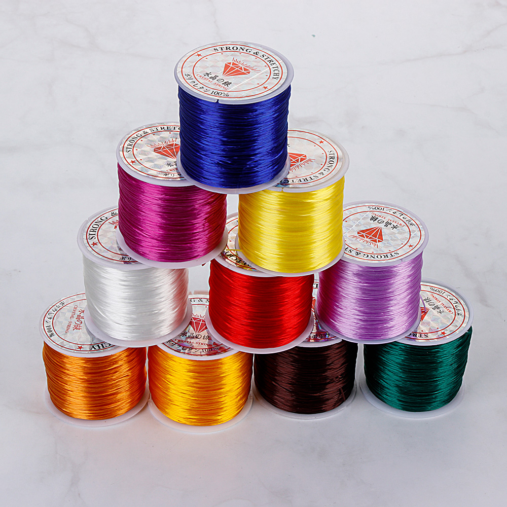 Beads Beading-Cord Thread-Line Elastic 1mm Diy-Tools Core-Spun Long-Rosary 50m/Roll-Wire