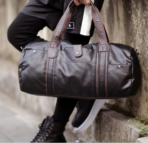 Hombres Bolsas de Viaje de Gran Capacidad Portátil de Hombro Bolsas Casuales Hombres Vendedores Calientes de LA PU de Cuero Bolsas de Viaje Bolsas Impermeables