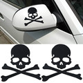 1Pair Hot Selling Skull Design PVC 3D Decoration Sticker For Car Side Mirror Rearview Truck Sticker Free Shipping