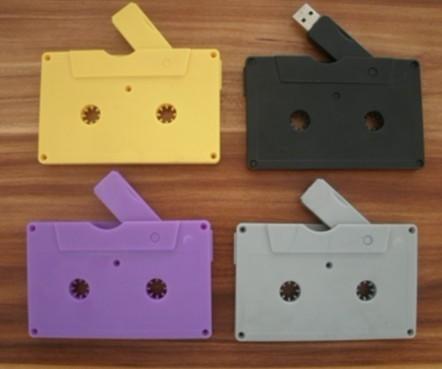 Frete grátis em estoque especial novidade plástico Fita De Áudio usb 2.0 de memória flash usb stick 64 gb