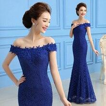 Elegante Spitze Abendkleider Lange Meerjungfrau Abendkleid Slim Fit Abendkleider