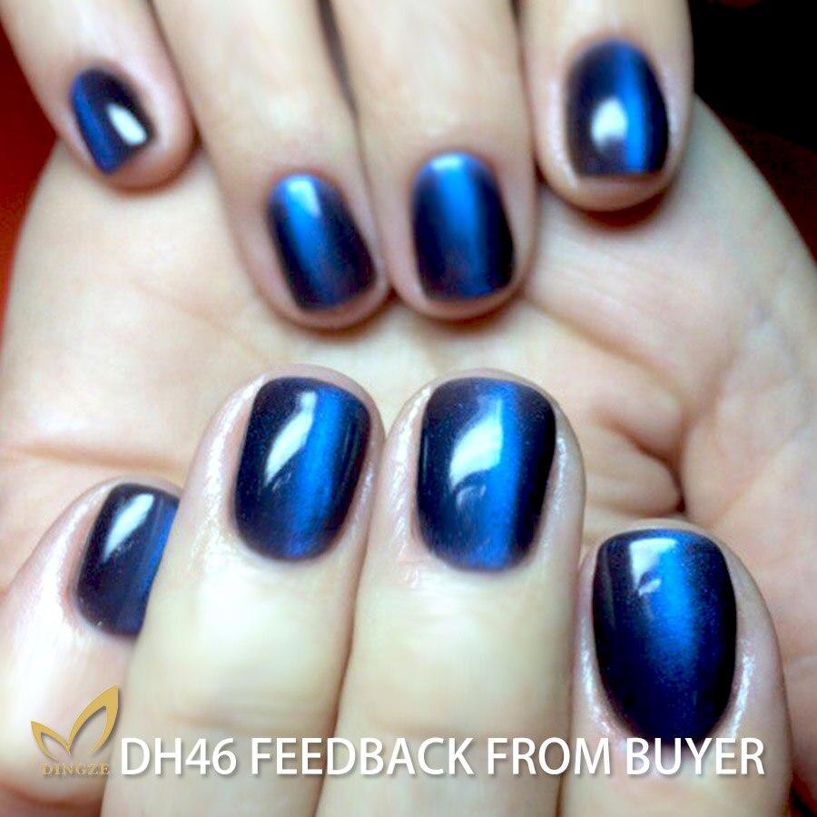 Online eye color changer - Monasi Thermal Blue Color Change Cat S Eye Gel Polish Soak Off Decals Nails Manicure Art Lasting