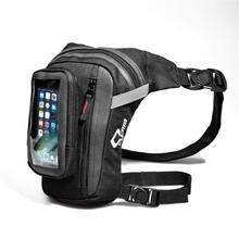 Men Oxford Drop Leg Waist Belt Fanny Pack Motorcycle Hiking Bag Touch Screen Phone Bag цена и фото