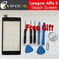 Leagoo Alfa 5 Сенсорным Экраном Дигитайзер Панели 100% Оригинальный экран Замены Для Leagoo Alfa 5 Мобильный Телефон + Бесплатная Доставка