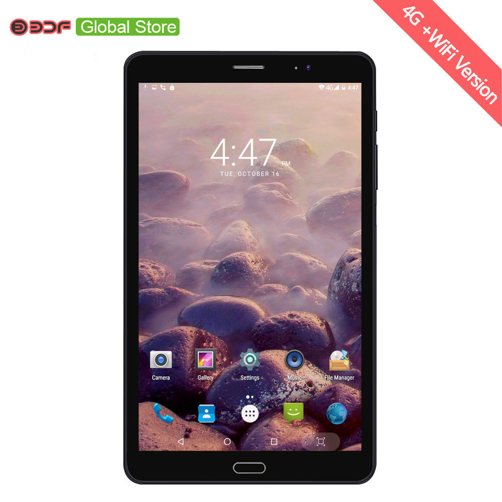 BDF 8 Inch Tablet Pc 2G GSM 3G 4G LTE Mobile Phone Call  Sim Card Tablet Pc 4GB +32GB Android 6.0 Pad Pc Mobile Phone Tablets Pc