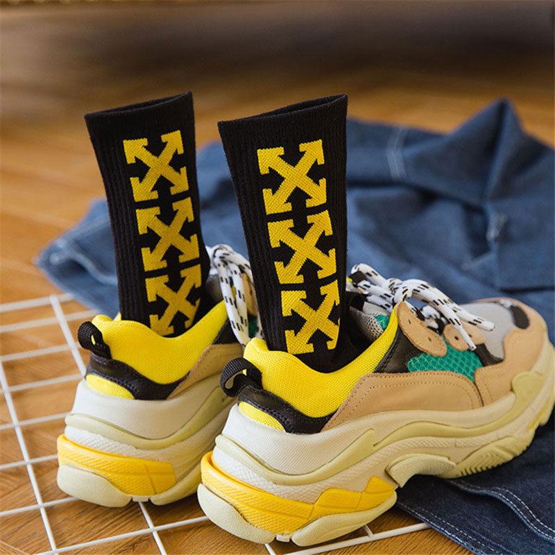 High Quality Autumn Cotton Tube   Socks   Street Style Hiphop Crew   Socks   Harajuku Fashion Hombre Designer Skateboard chaussette