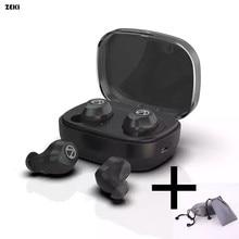 ZEKI Bluetooth 5,0 TWS наушники IPX7 водонепроницаемые спортивные Беспроводные наушники с сенсорным управлением