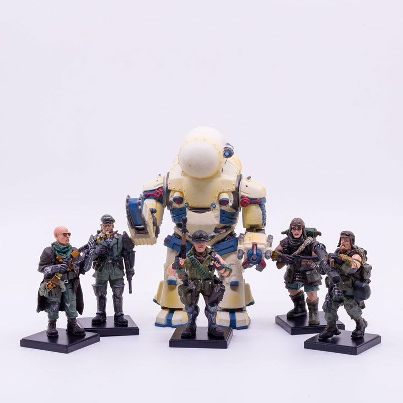 1/25 JOYTOY action figures(5PCS /sets)Desert gangster Soldiers and mecha CAIM MECHA Free shipping image