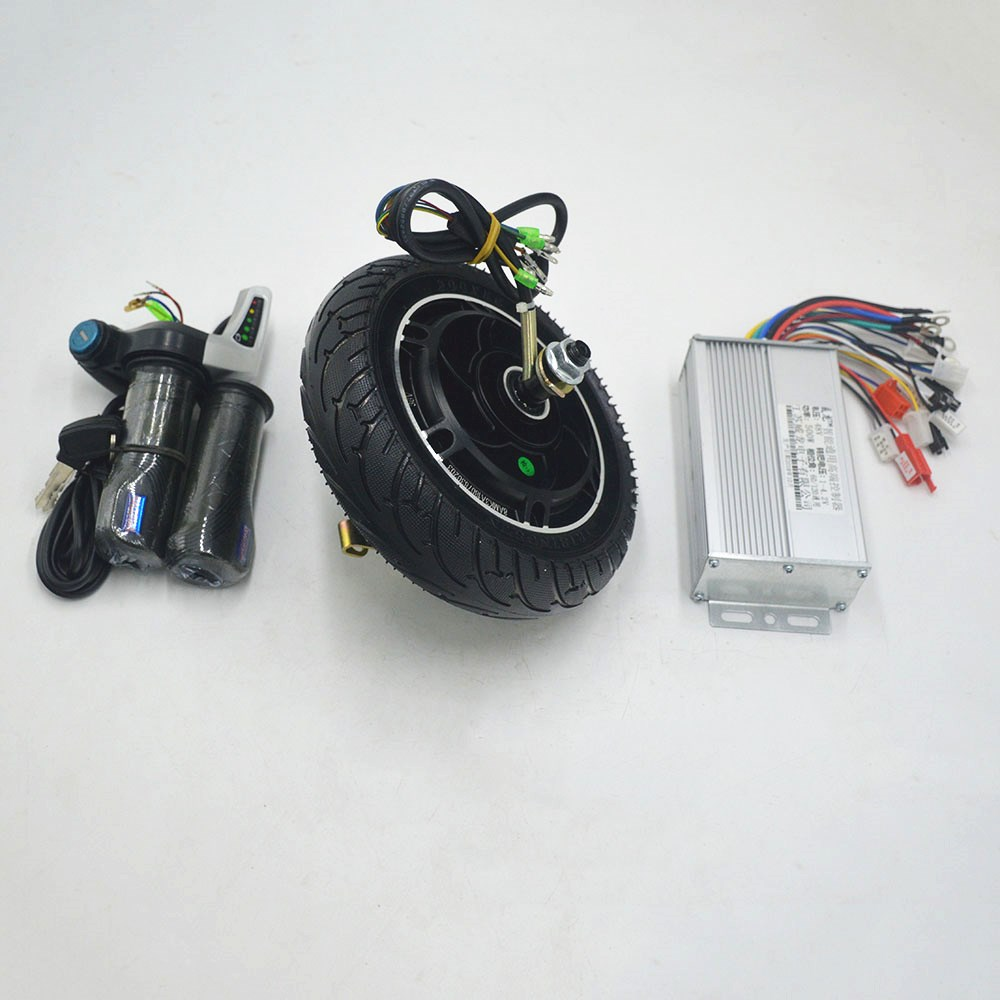 Mini Scooter Wheel <font><b>Motor</b></font> kit 36V 48V <font><b>350W</b></font> with <font><b>DC</b></font> <font><b>Brushless</b></font> controller throttle for electrice scooter/E bike DIY set image