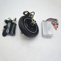 Mini Scooter Wheel Motor kit 36V 48V 350W with DC Brushless controller throttle for electrice scooter/E bike DIY set