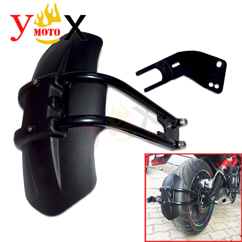 Motorcycle Black Rear Fender Mudguards Splash Guard For KAWASAKI Versys650 KLE650 Versys 650Motorcycle Black Rear Fender Mudguards Splash Guard For KAWASAKI Versys650 KLE650 Versys 650