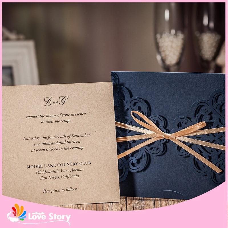 Al Matrimonio Auguri O Congratulazioni : 10 sets scava fuori modello di fiore matrimonio invito biglietto di