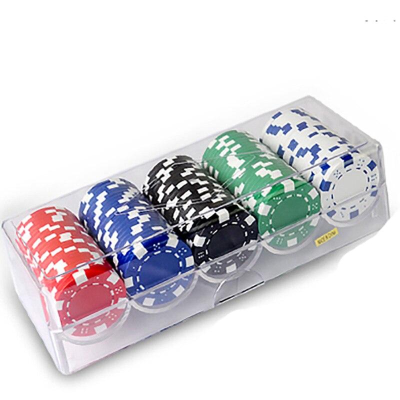 100 шт. компл. Фишки для покера 11.5 г шт. окружающей среды ABS + Утюг  красочные фишки казино Техасский Фишки для покера с акриловая 35790dbc014