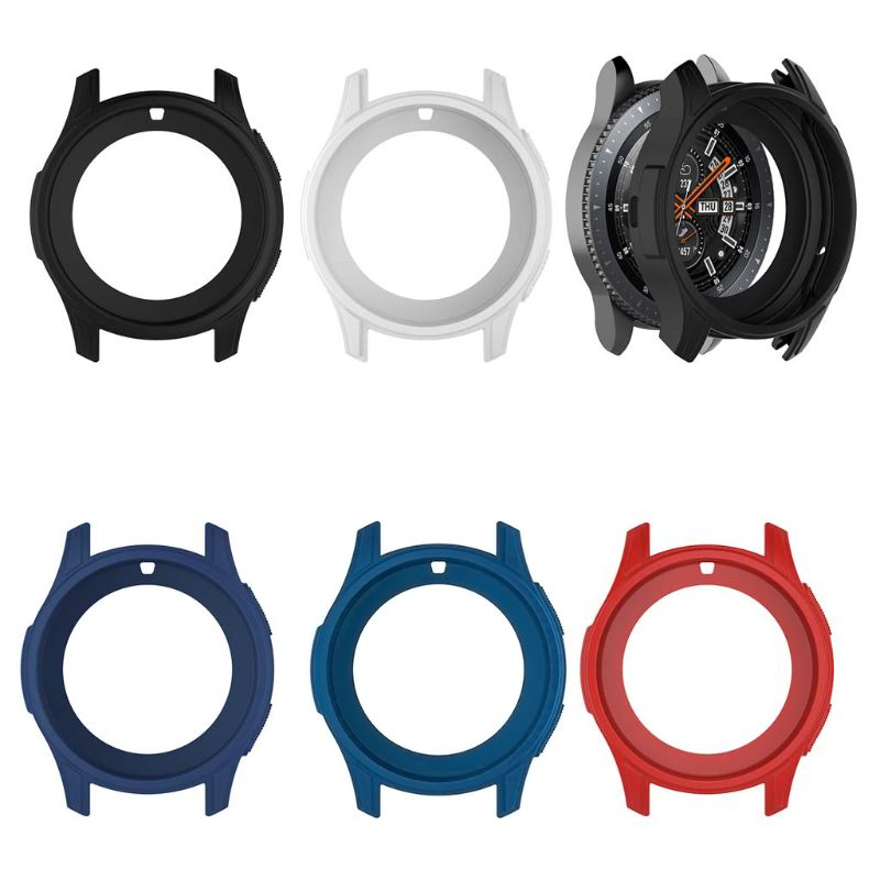 Soft Silicone Shell Protective Frame Case Cover <font><b>Skin</b></font> For <font><b>Samsung</b></font> Galaxy Watch 46mm Gear <font><b>S3</b></font> <font><b>Frontier</b></font> image