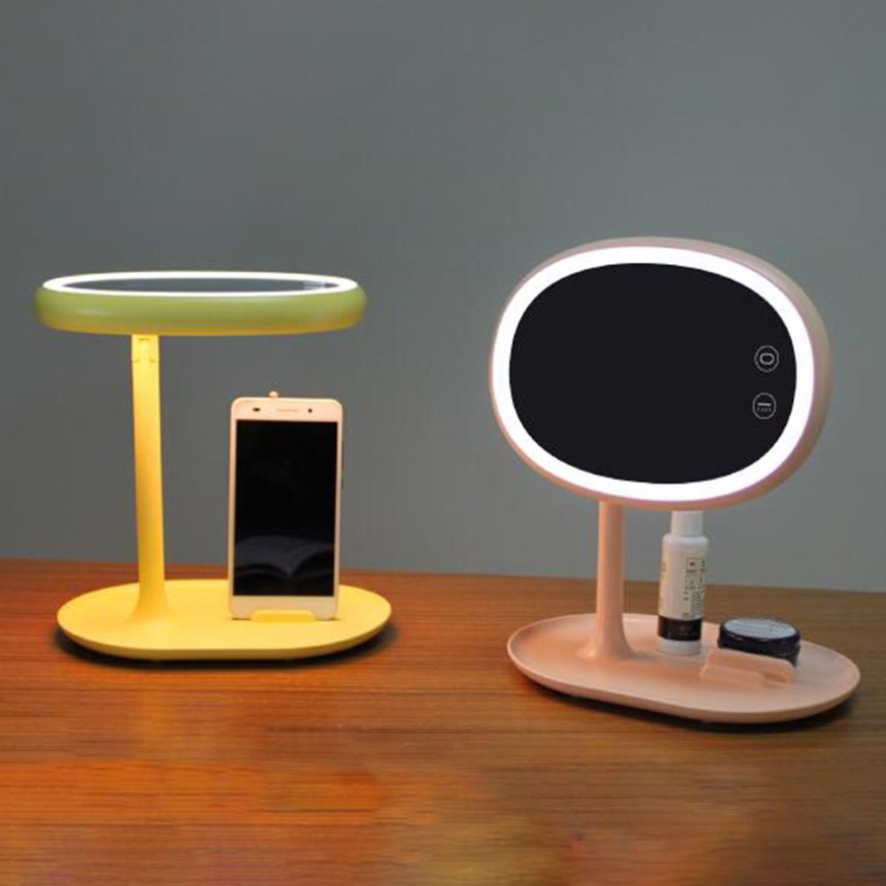 led makeup light Mirror Cosmetic table Lamp USB touch tact