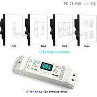 LTECH DA1 DA2 DA3 DA4 DALI Dimmer led Wall Mount Touch Paneel controller; LT-454-5A CV LED dimmen driver voor led strip