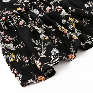 Image 5 - Sollinarry Floral Chiffon Casual Skirts Women Autumn High Waist Fashion Ruffle Girl Winter Skirt 2019 Beach Black Feminine Skirt