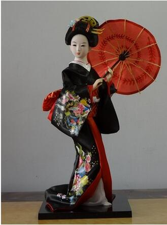 30cm Resin Statuette Ethnic Japanese Geisha Dolls Kimono Dolls Belle Girl Lady Collection Home Decoration Miniature Figurines