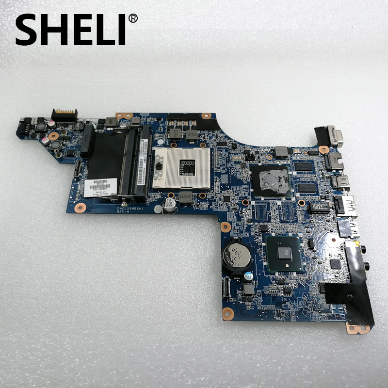 SHELI 630280-001 Free Shipping Laptop Motherboard For HP DV6 DV6-3000 HM55 Fully Tested Motherboard DA0LX6MB6H1