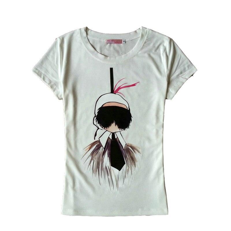 Black White Hot Cartoon Design Good Quality T Shirt Women