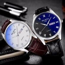 Wlisth 2016 marca de lujo de reloj de cuarzo relojes reloj masculino hombres de acero inoxidable de Moda Casual de Negocios reloj de Pulsera Del Deporte