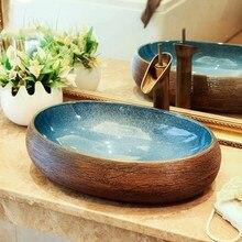 Роскошный керамический Фарфоровый Умывальник в европейском стиле для ванной комнаты