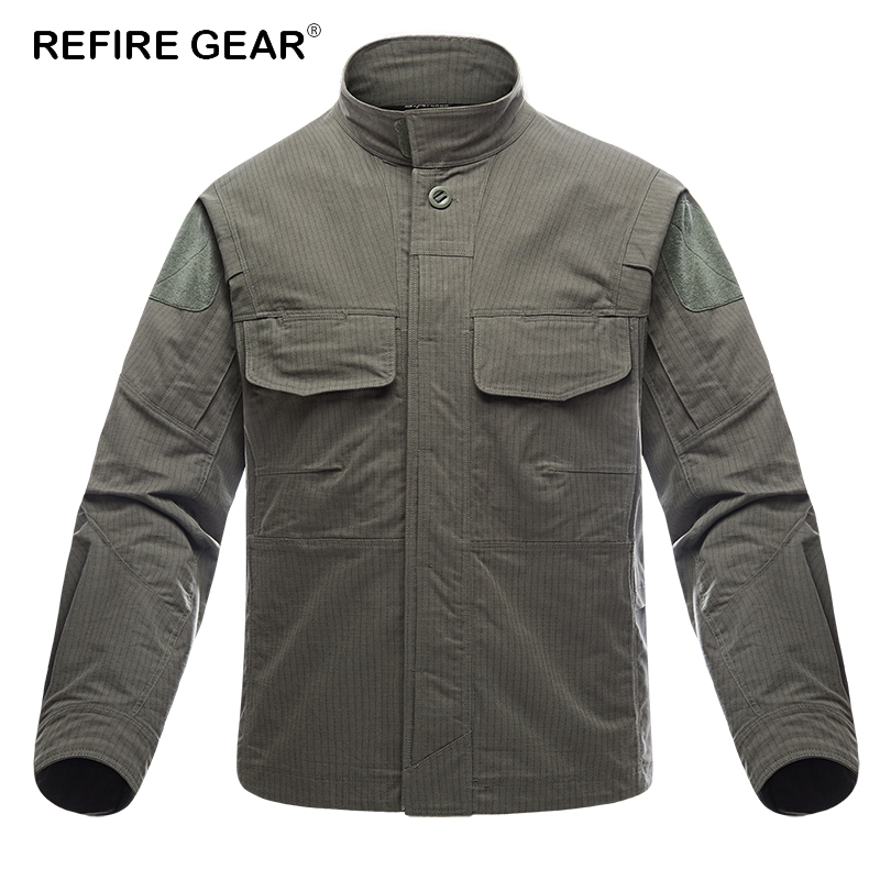 ReFire Gear Tactical Shirt Outdoor Waterproof Hiking Tactical Shirt Man Spring And Autumn Camping Shirt-shaped Shirt